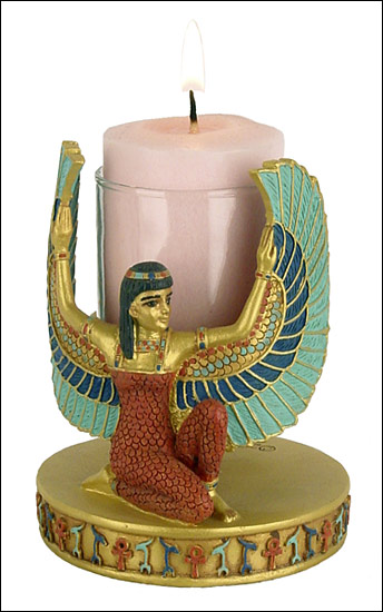 Buy Kneeling Winged Isis candle holder