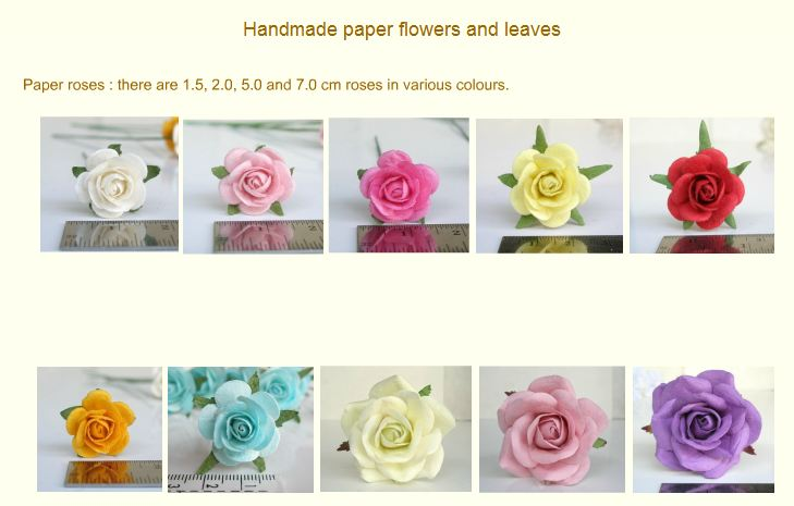 Buy Handmade rose from Mulberry paper for art and scrapbooking.