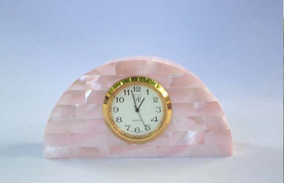 Buy Pink Mother of Pearl Small Clock