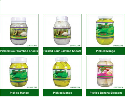 Buy Pickled Products (Bamboo Shoots, Mango,Banana Blossom)