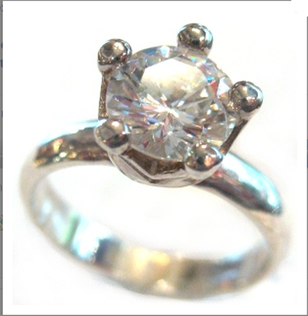 Buy Sterling Silver CZ crown Ring