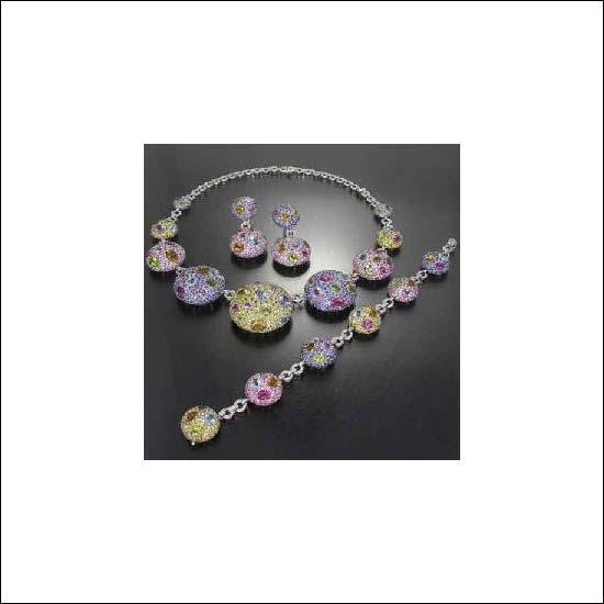 Buy Colour Semi-Precious Stone Jewellery Set