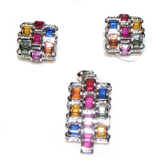 Buy Sapphire Jewellery Set
