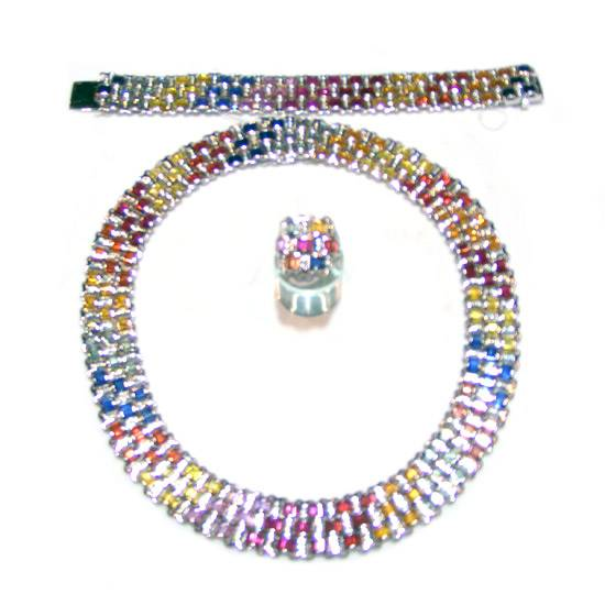 Buy Colorful Sapphire Jewellery Set