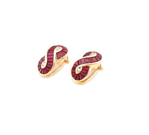 Buy Gold Ruby Earring