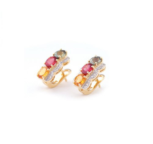 Buy Rainbow Sapphire Earring
