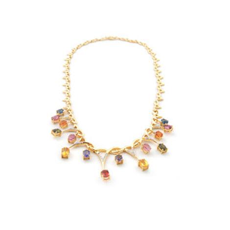 Buy Rainbow Sapphire Necklace