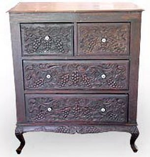 Buy Teak Chest of Carved Drawers