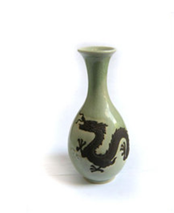 Buy Vase Chinese Style With Dragon Design
