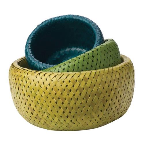 Buy Organic Bamboo Baskets Set of 3