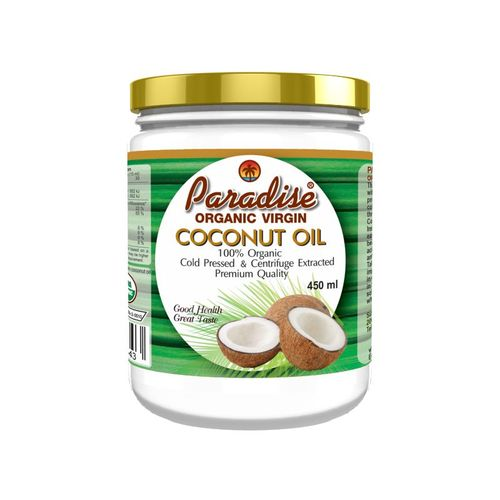 Buy Paradise Organic Extra Virgin Coconut Oil 450ml glass jar Thailand