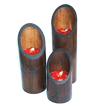 Buy Aromatic Candle in Bamboo Set 1