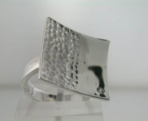 Buy Square silver ring