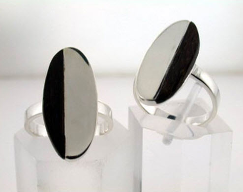 Buy Oval silver ring
