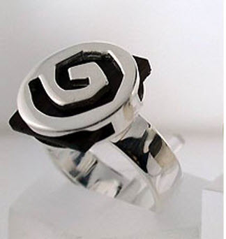 Buy Round silver ring