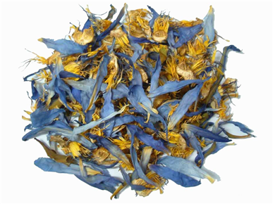 Buy Blue lotus dried flowers (Nymphaea caerulea) 100g