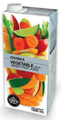 Vegetable with Mixed Fruit Juice
