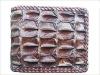 Buy Genuine Chocolate Backbone Crocodile Skin Leather Biker Wallets Mens Bifold