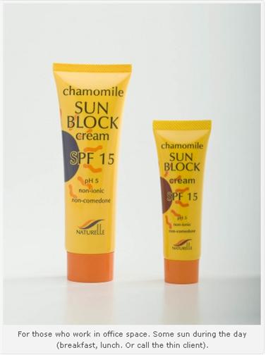 Buy Chamomile Sun Block Cream SPF 15