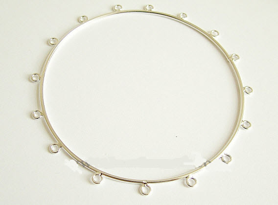 Buy Sterling silver bangle with 16 loops