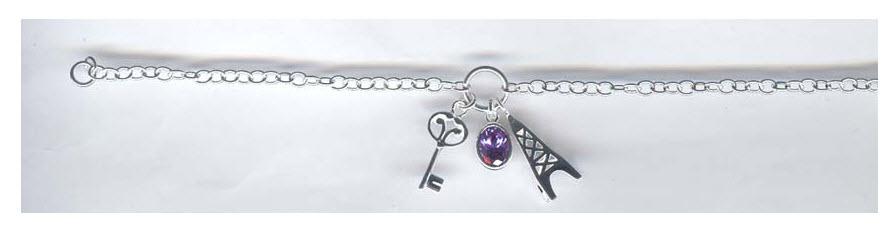 Buy Silver Bracelet Charm With Stone