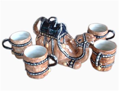 Buy Tea set camel design.