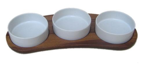 Buy 3 section ceramic dip cup