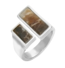 Buy Silver Ring With Picture Jasper Setting