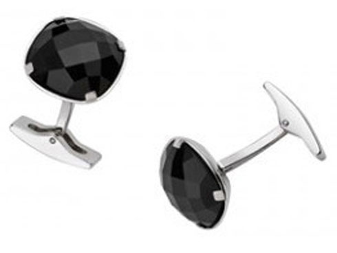Buy Silver Cuff Links With Malachite