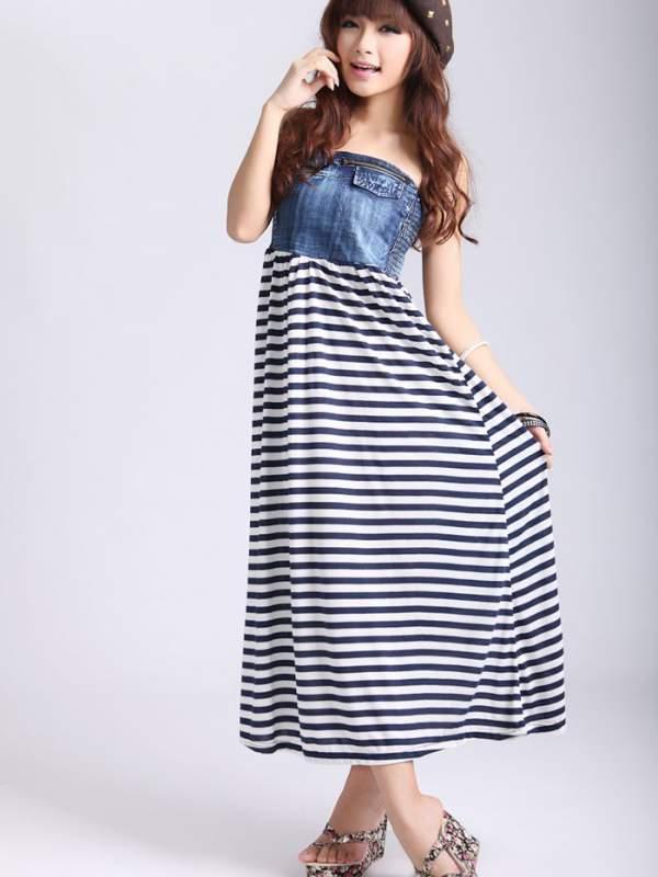 Buy High waist maxi dress