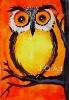 Buy Owl original watercolor painting