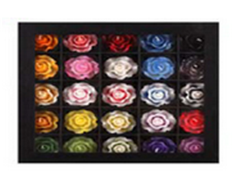 Buy Set of 25 Rose Candles in mulberry paper box
