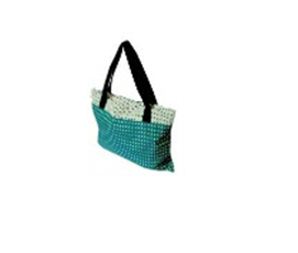 Buy Handmade Emeral Green Cotton mixed Fabric Bag