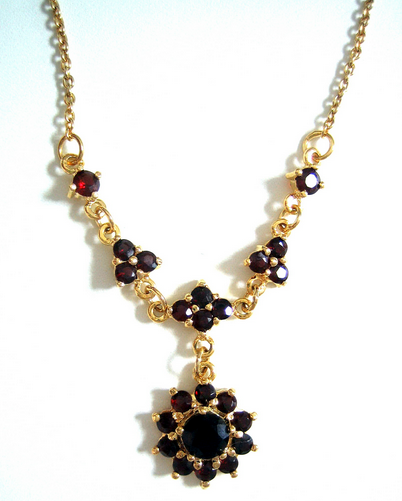 Buy Bohemian garnet jewelry