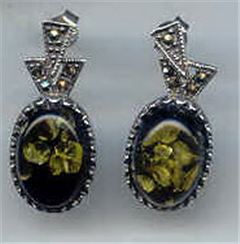 Buy Silver with stone earrings