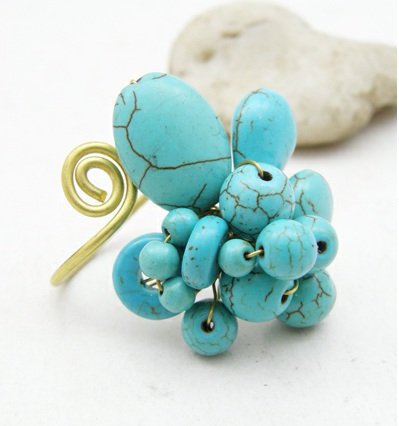 Buy Wire Wrapped Ring with Turquoise Howlite