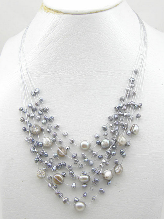 Buy Multi Strands Gley Pearl Necklace
