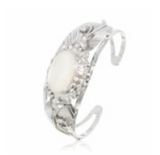 Buy Mother of Pearl silver bangle