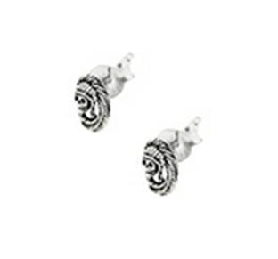 Buy Plain silver earrings