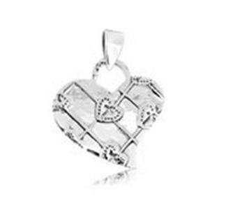Buy Heart shape silver pandant