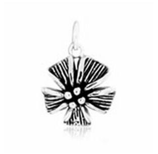 Buy Flower silver pendant