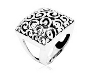 Ornament silver ring