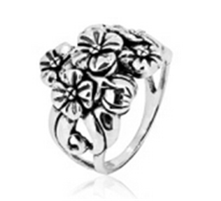 Buy Floral silver ring