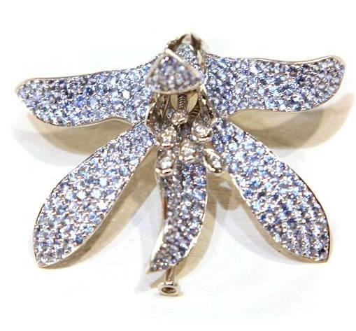 Buy Blue Sapphire Brooch