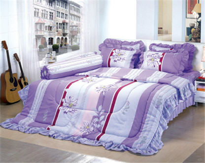 Buy 6' Fitted Sheet with Skirt Double Bed Set