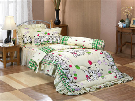 Buy 3.5' Fitted Sheet with Skirt Double Bed Set