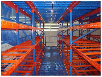 Buy Multi-Tiers Mezzanine Racking System