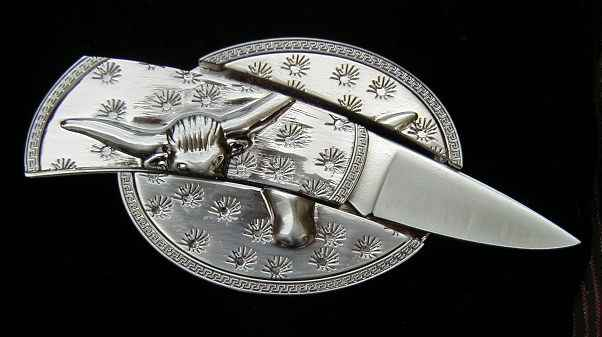 Buy Custom Belt-Buckle Knife