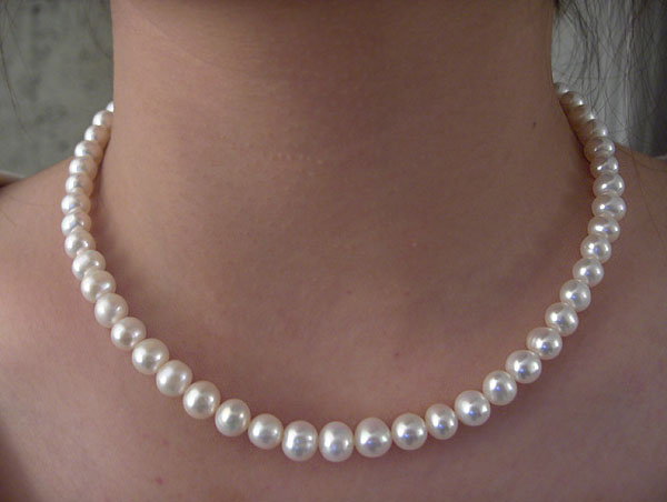 Pearl Necklace handmade work