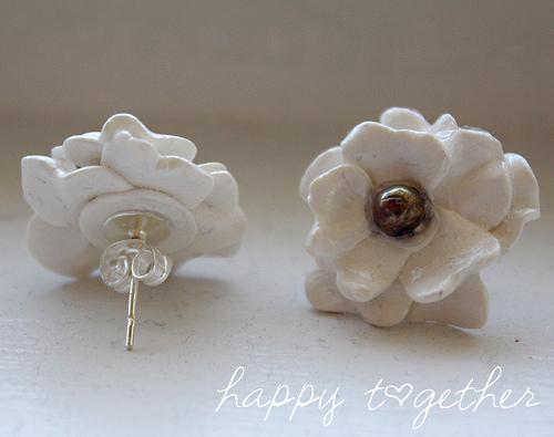 Clay flowers Earring